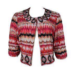 PERCEPTIONS Pink Cropped Jacket Size L
